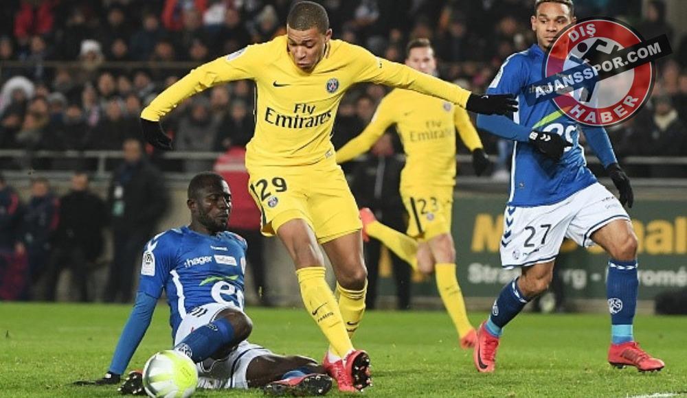 PSG'ye bir çelme de Strasbourg'dan!