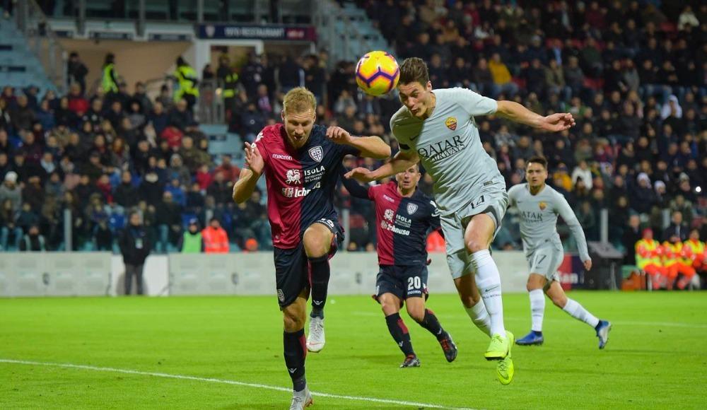 Cagliari, Cengizli Roma'dan son dakikada puanı kaptı!