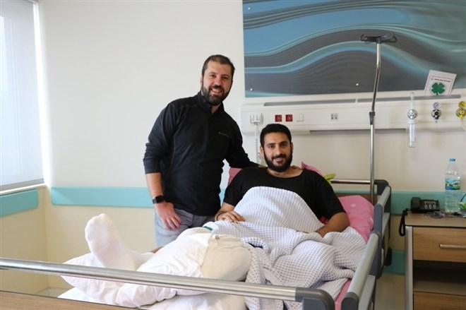Antrenmanda sakatlanan Antalyasporlu futbolcu, Isparta'da sağlığına kavuştu