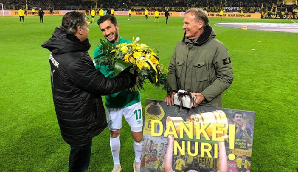 Nuri Şahin, Dortmund'da çiçeklerle karşılandı