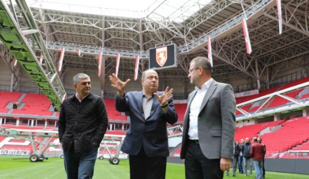 Dursun Türk, 19 Mayıs Stadyumunu inceledi