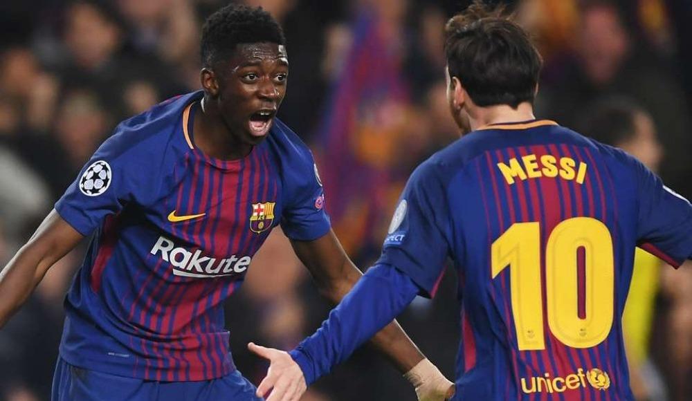 Barcelona, Dembele ve Messi ile 3 puanı aldı