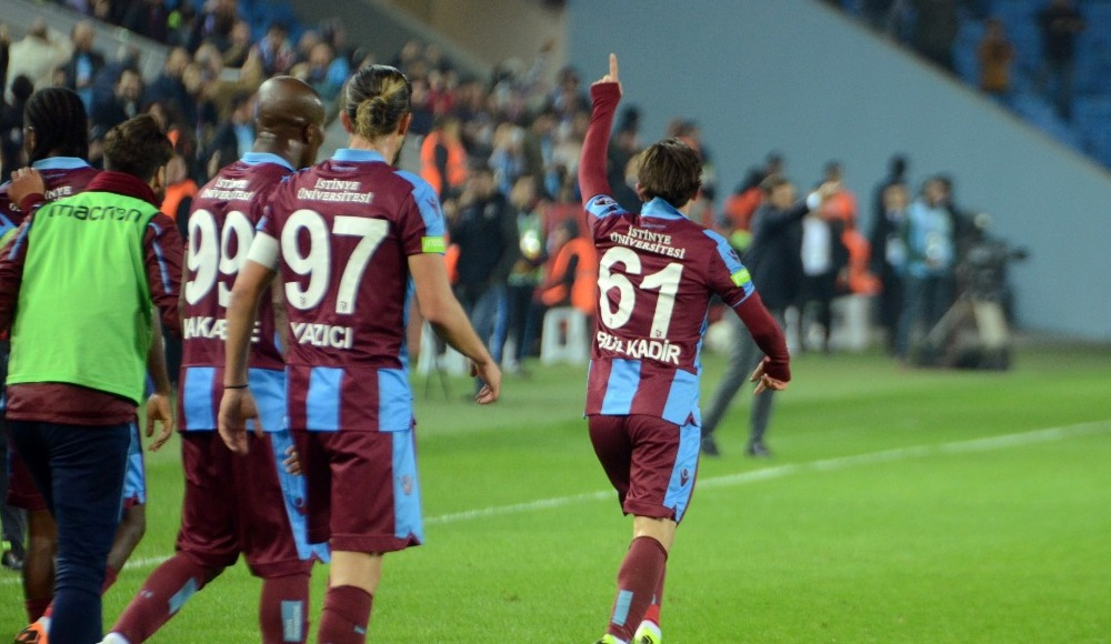 Trabzonspor, ligin ilk yarısını farklı galibiyetle kapattı