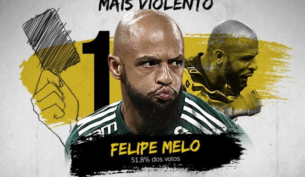 Felipe Melo, Brezilya liginde sezonun en acımasız futbolcusu seçildi