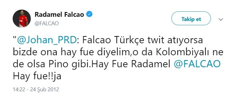 işte Falcao'nun o paylaşımları: