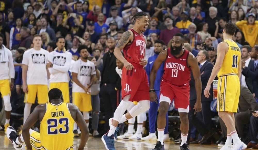 James Harden alev aldı, Rockets uzatmada Warriors'ı yendi
