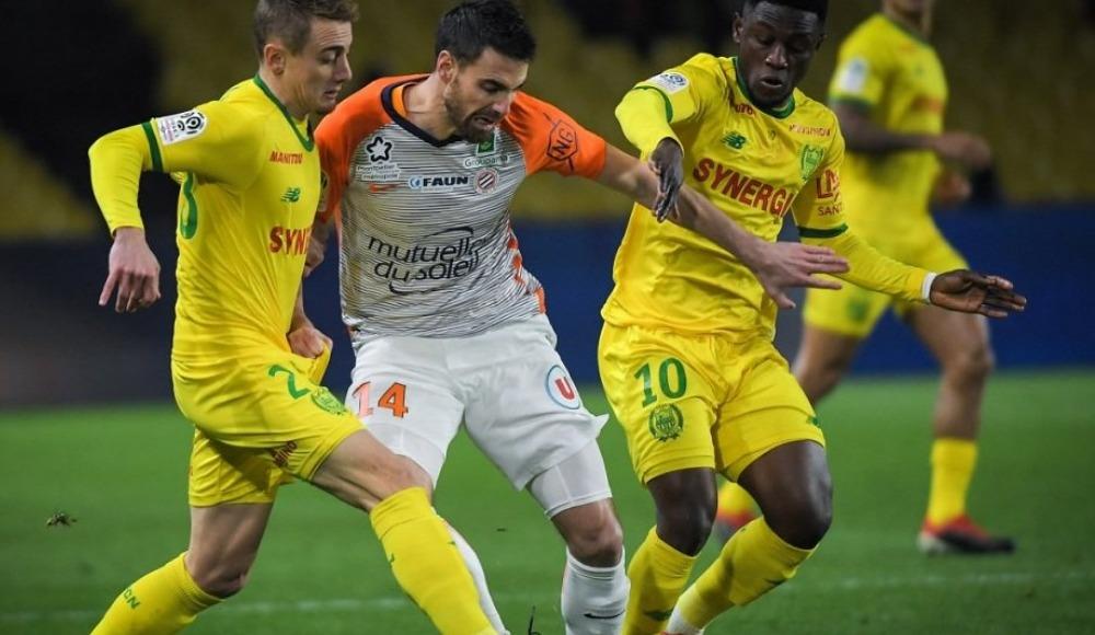 Nantes, sahasında karşılaştığı Montpellier'i mağlup etti