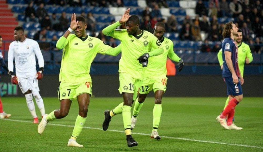 Mehmet Zeki Çelik'ın kırmızı kart gördüğü maçta Lille kazandı