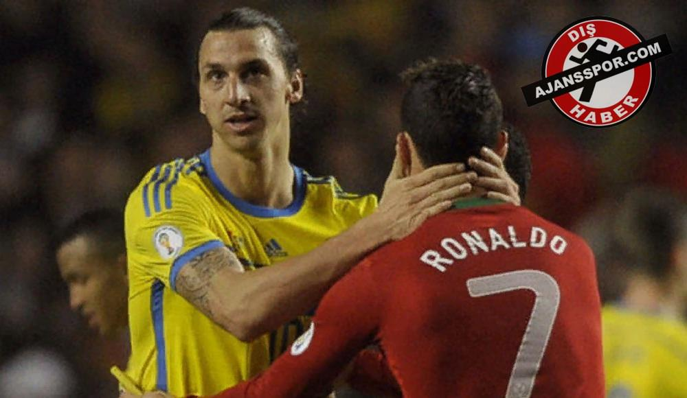 Zlatan Ibrahimovic'ten Ronaldo'ya sert tepki!