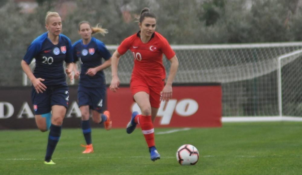 A Milli Kadın Futbol Takımı, Slovakya ile 0-0 berabere kaldı