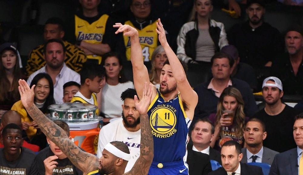 NBA'de geceye Klay Thompson damga vurdu!