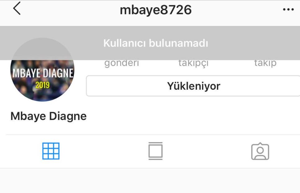 Diagne'nin Instagram hesabı kapandı!