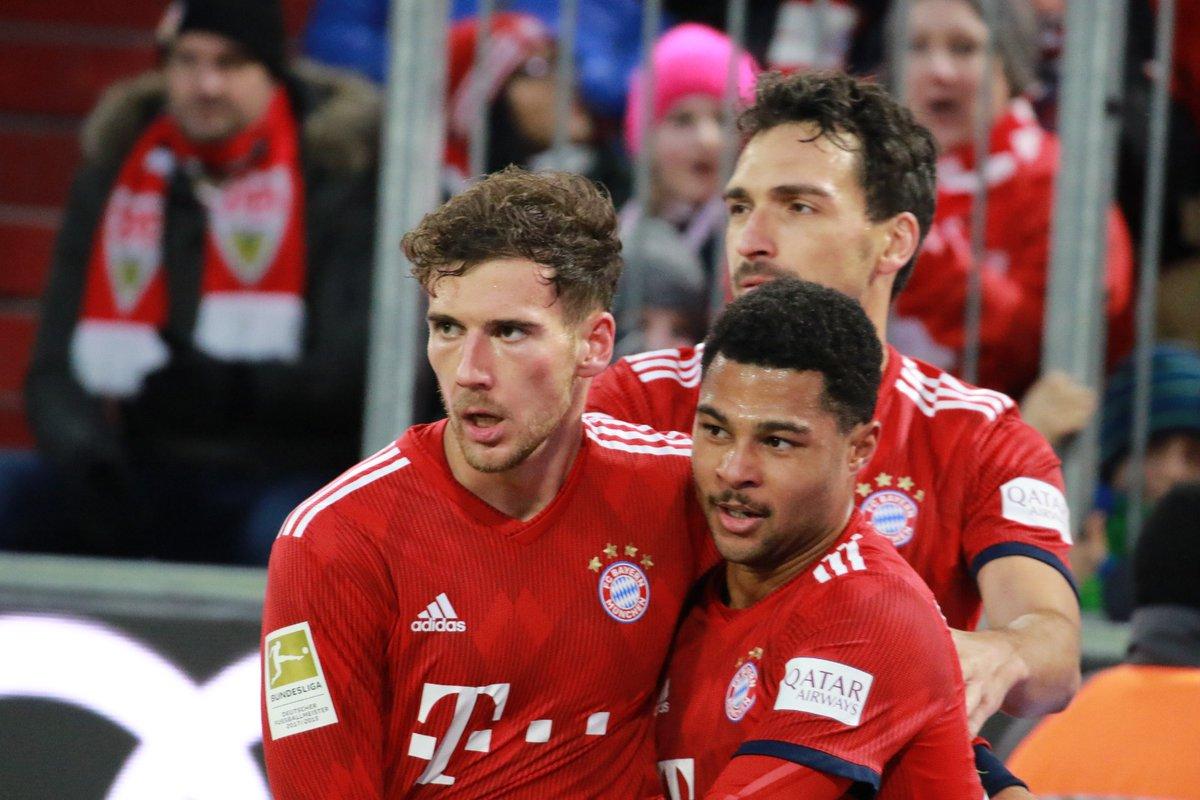 Bundesliga'da iki takımın puan durumu