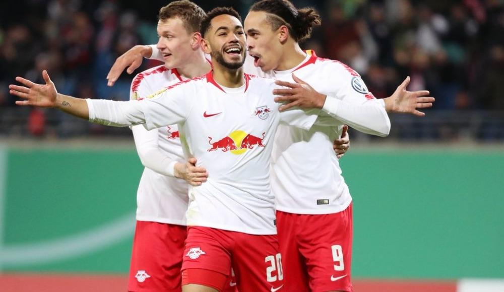 RB Leipzig, Almanya Kupası'nda çeyrek finale yükseldi