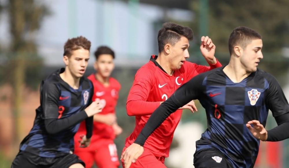 U17 Milli Takımı, Hırvatistan ile 1-1 berabere kaldı