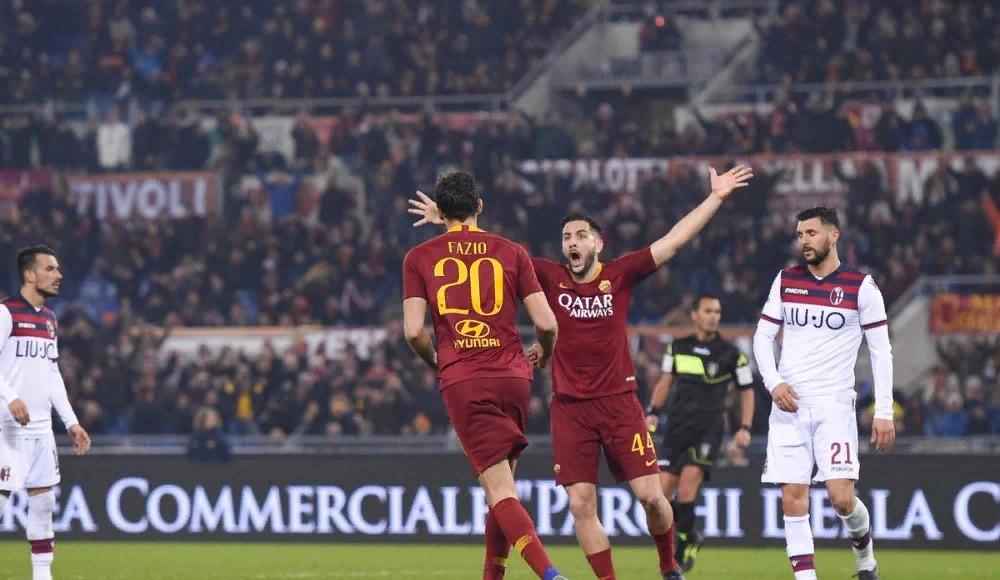 Roma sahasında iki golle kazandı!