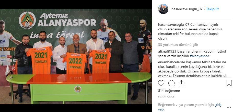 Hasan Çavuşoğlu'nun paylaşımı...