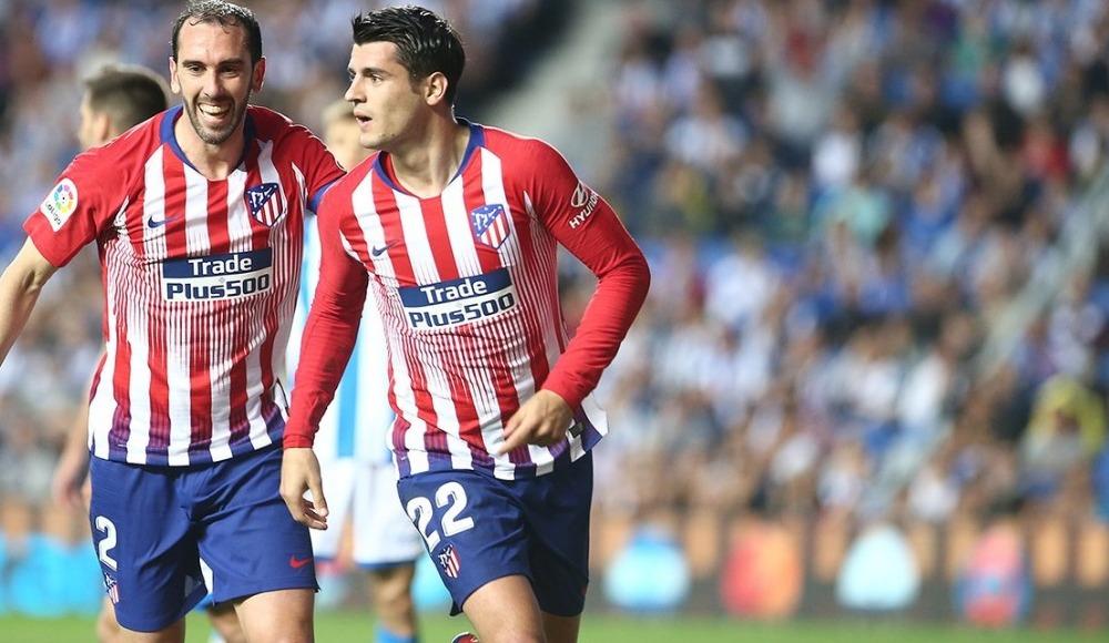 Morata'nın coştuğu maçta Atletico Madrid deplasmanda kazandı