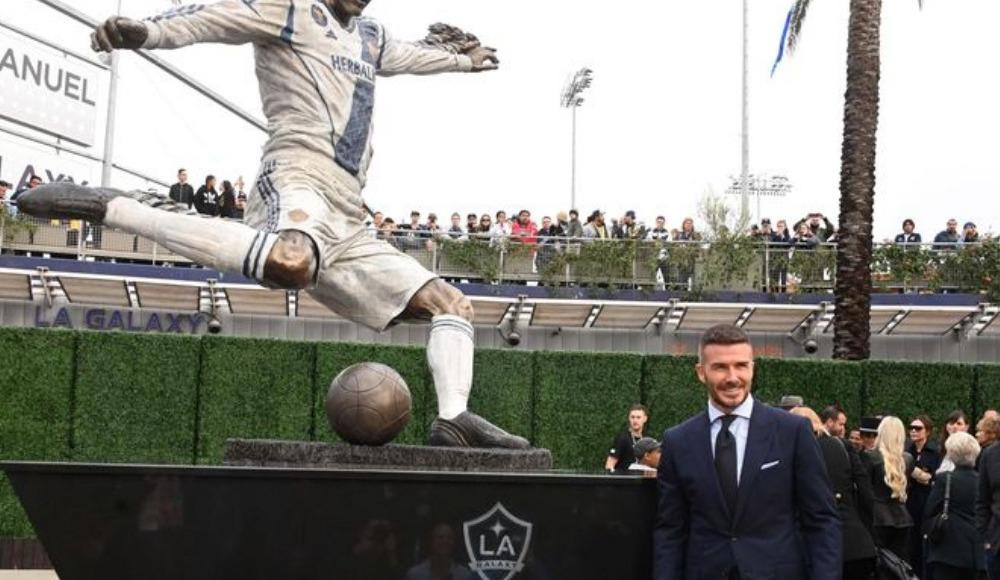 MLS tarihinde heykeli dikilen ilk futbolcu David Beckham oldu!