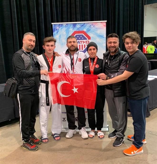 Karabüklü taekwondocu Amerika'dan bronz madalya ile döndü