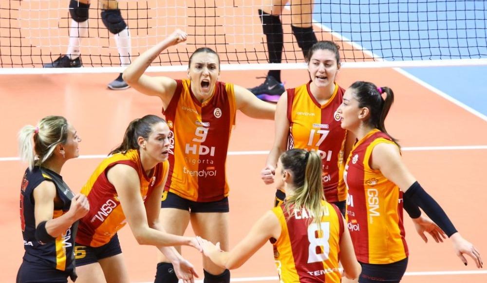 Galatasaray HDI Sigorta, Beşiktaş'ı deplasmanda 3-1 yenerek 1-0 öne geçti