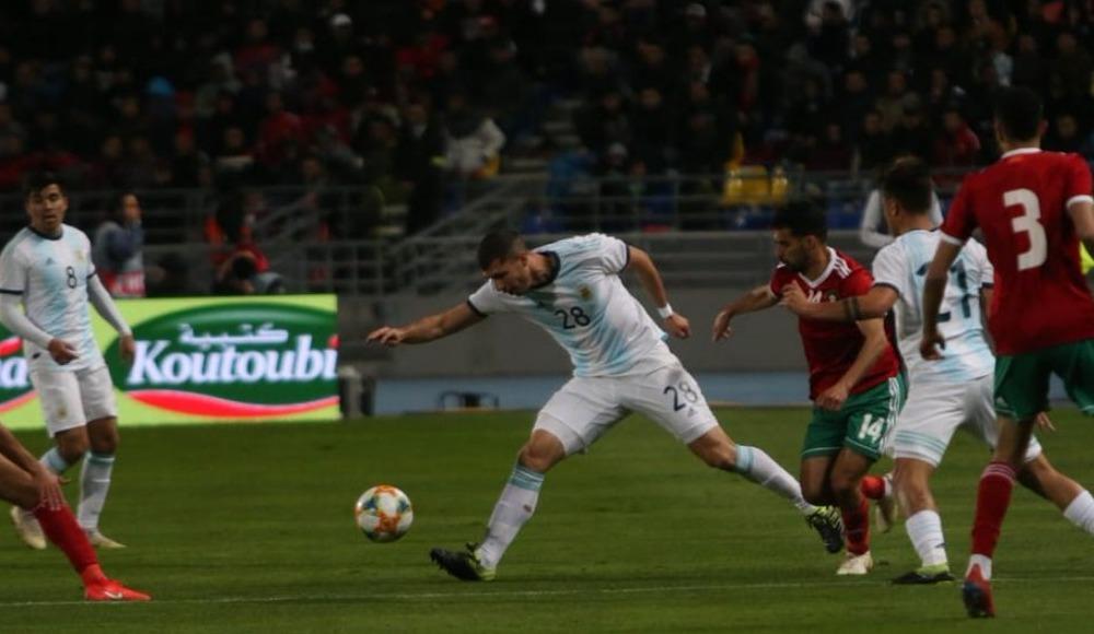 Arjantin, hazırlık maçında Fas'ı 1-0 yendi! Belhanda...