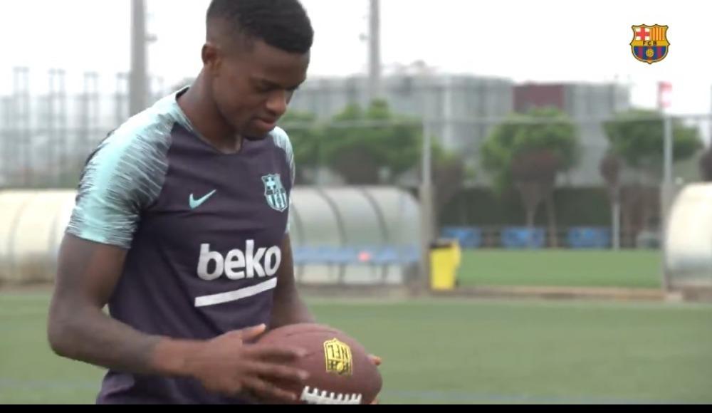 Video - Yıldız futbolcu 3 farklı topla yeteneklerini sergiledi