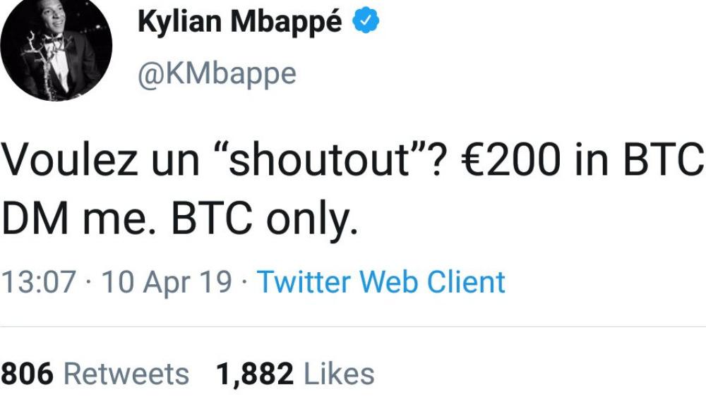 Mbappe'nin hesabı çalındı