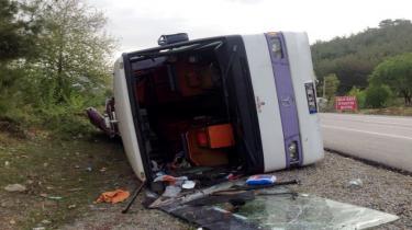Kaza yapan otobüs sahte plakalı çıktı!