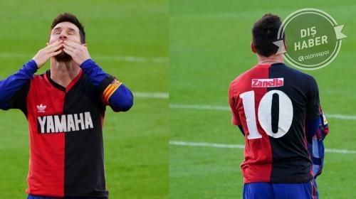 Camp Nou'da tarihi anlar! Lionel Messi, Maradona formasıyla...